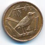 Каймановы острова, 1 цент (1972 г.)