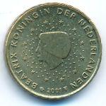 Нидерланды, 10 евроцентов (2001 г.)