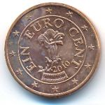 Австрия, 1 евроцент (2010 г.)