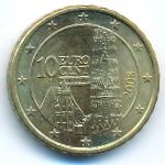 Австрия, 10 евроцентов (2008 г.)