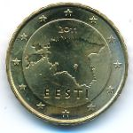 Эстония, 10 евроцентов (2011 г.)