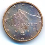 Словакия, 1 евроцент (2009 г.)