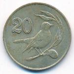 Кипр, 20 центов (1985 г.)