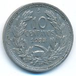 Чили, 10 сентаво (1938 г.)