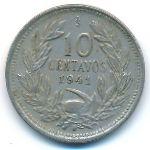 Чили, 10 сентаво (1941 г.)