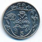 Остров Мэн, 5 пенсов (1987 г.)