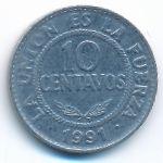 Боливия, 10 сентаво (1991–1995 г.)