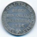 Анхальт-Бернбург, 1 талер (1846 г.)