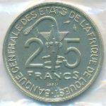 Западная Африка, 25 франков (1980 г.)