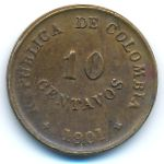 Колумбия, 10 сентаво (1901 г.)