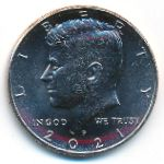США, 1/2 доллара (2021 г.)