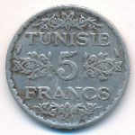 Тунис, 5 франков (1934 г.)