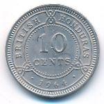 Британский Гондурас, 10 центов (1964–1970 г.)