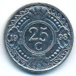Антильские острова, 25 центов (1998 г.)