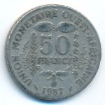 Западная Африка, 50 франков (1987 г.)