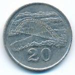 Зимбабве, 20 центов (1997 г.)