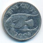 Бермудские острова, 5 центов (2004 г.)