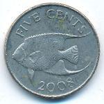 Бермудские острова, 5 центов (2008 г.)