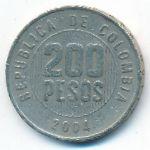 Колумбия, 200 песо (2004 г.)