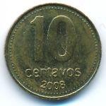 Аргентина, 10 сентаво (2008 г.)