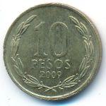 Чили, 10 песо (2009 г.)