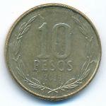 Чили, 10 песо (2014 г.)