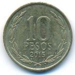 Чили, 10 песо (2015 г.)