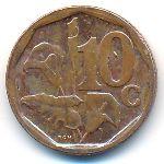 ЮАР, 10 центов (2016 г.)