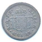 Мексика, 1/2 реала (1783 г.)