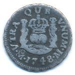 Мексика, 1/2 реала (1748 г.)