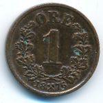 Норвегия, 1 эре (1876 г.)