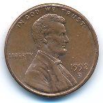 США, 1 цент (1992 г.)