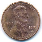 США, 1 цент (2012 г.)