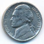 США, 5 центов (1987 г.)