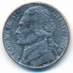 США, 5 центов (2001 г.)
