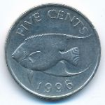 Бермудские острова, 5 центов (1996 г.)