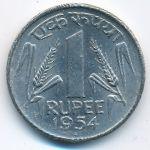 Индия, 1 рупия (1954 г.)