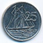Каймановы острова, 25 центов (1992 г.)