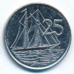 Каймановы острова, 25 центов (1996 г.)
