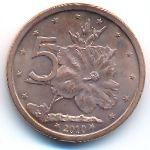 Острова Кука, 5 центов (2010 г.)