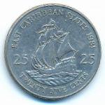 Восточные Карибы, 25 центов (1981 г.)