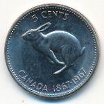 Канада, 5 центов (1967 г.)