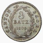 Базель, 3 батцена (1809 г.)