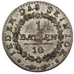 Аппенцелль, 1 батцен/10 раппенов (1808 г.)