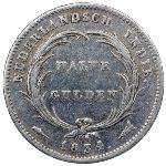 Нидерландская Индия, 1/2 гульдена (1834 г.)