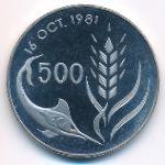 Кипр, 500 мил (1981 г.)
