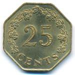 Мальта, 25 центов (1975 г.)