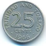 Тринидад и Тобаго, 25 центов (1966–1972 г.)