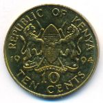 Кения, 10 центов (1994 г.)
