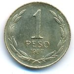 Чили, 1 песо (1987 г.)